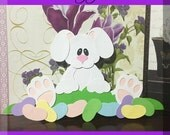 JELLY BEAN BUNNY  Embellishments Paper Piecing card making and scrapbooking