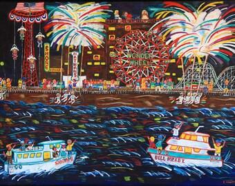 Coney Island Fireworks--Brighton Beach Brooklyn