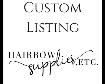 Custom Listing for Pre-Made Headbands