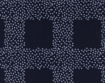 One Yard from the Bluebird Collection for Cotton + Steel -Not Minus- Indigo