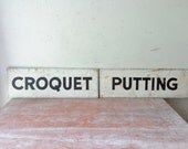 Complete Vintage Croquet Set  - Wedding/Games/Gift