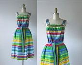 RESERVED vintage sun dress / stripe summer dress