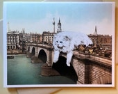 Cat Card, London Bridge, Cat Art, photochromic, london, funny cards, london art, funny cats, cats, alternate histories, geekery