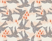 Fly by Day print Cotton,  Sweet as Honey Collection, Cotton Fabric, Quilting Weight textile, Art Gallery Designer Cotton