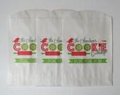 Christmas Treat Bag - Christmas Favor Bag - Cookie Exchange Bag - Christmas Cookie Favor - Printed Treat Bag - Cookie Bag - Cookie Party