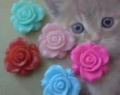 Kawaii girly rose cabochons decoden deco diy  5 pcs
