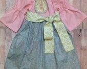 CLEARANCE Girls 12-18 month Fall Boho dress