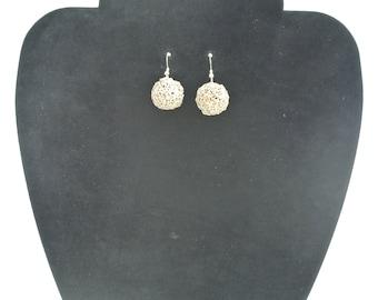 Fine silver filigree earrings