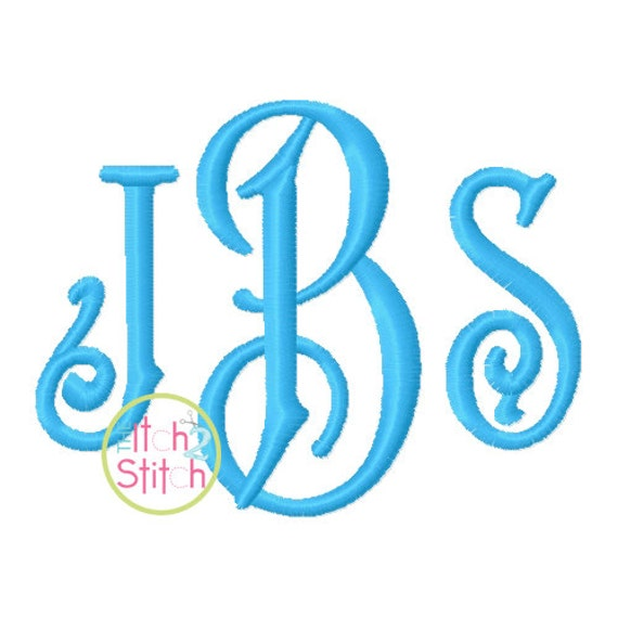 Carson monogram embroidery font sizes