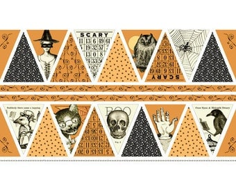 Sew Scary by Janet Wecker-Frisch - Pumpkin Bunting Panel (23857-0) - 1 Panel
