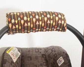 Infant Car Seat Handle Cushion ARM PAD Reversible - Arrows