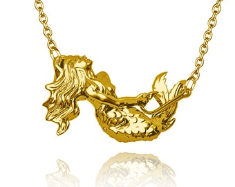 Gold fish pendant etsy for Gold fish pendant