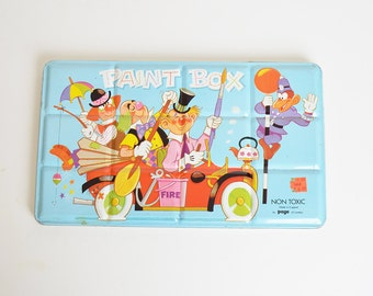 Vintage Paint Box Clowns in Fire Truck England