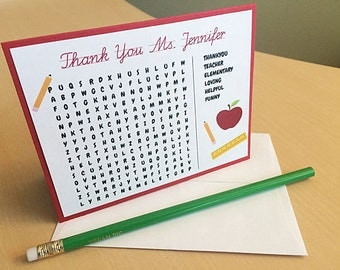 Teacher Gifts, GIfts for Teacher, Personalized Teacher Gift, Teacher Card, Teacher Thank You, Teacher Thank You Gifts, Teacher