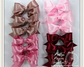 Hand Tied Satin Bows Set of 12 Pink Variety