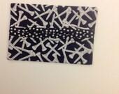 Black and White Golf Tees Fabric Tissue Holder Gift Idea Handmade