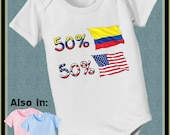 short sleeve and long sleeve 50 Colombia 50 American baby infant bodysuit