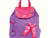 Personalized Monogrammed --Stephen Joseph Kid Quilted Ballet Shoes Backpack--Free Monogramming--