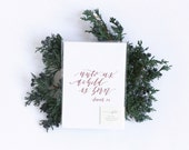 Postcards, Set of 6, Christmas Scripture, Calligraphy, Double Thick