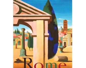 ROME 1- Handmade Leather Mini Wallet / Card Holder - Travel Art