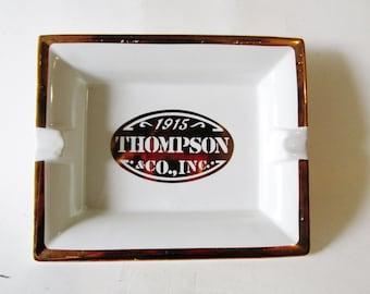 1915 Thompson & Co Tray, Cigar Tray, Ash Tray, Hollywood Regency, Thompson Cigar Co., Advertising Logo