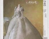 """Wedding Gown Pattern For Fashion Doll 11 1/2"""" Alicyn Bridal Dress Veil Uncut McCalls 4740"""