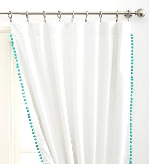 Double Sided Drapes : Double sided pom cotton curtain