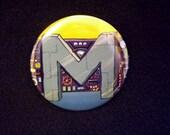 Mermaidman's Belt Pinback Button