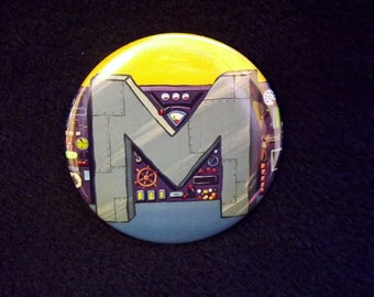 "Mermaidman's Belt Spongebob Inspired Pin Back Button 2.25"" Wumbo"