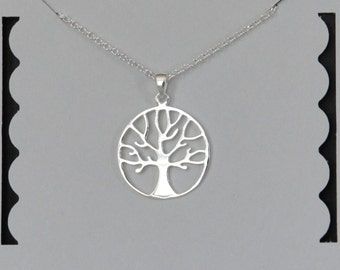 Sterling Silver Tree Necklace, Tree of Life, Family Tree, Birthday Gift, Grandmother's Gift, Mother's Gift