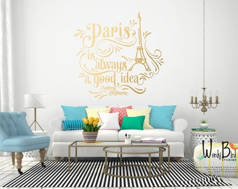 Paris is always a good idea wall decal - Audrey Hepburn