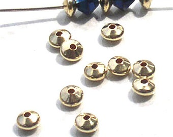 Gold Filled Saucer Beads 14/20 5mm