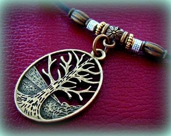 TREE of LIFE PENDANT Necklace - Art Deco, Antique style - Genealogy Tree of Life Jewelry
