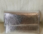 Vintage Foiled Metallic Silver 60's Wallet