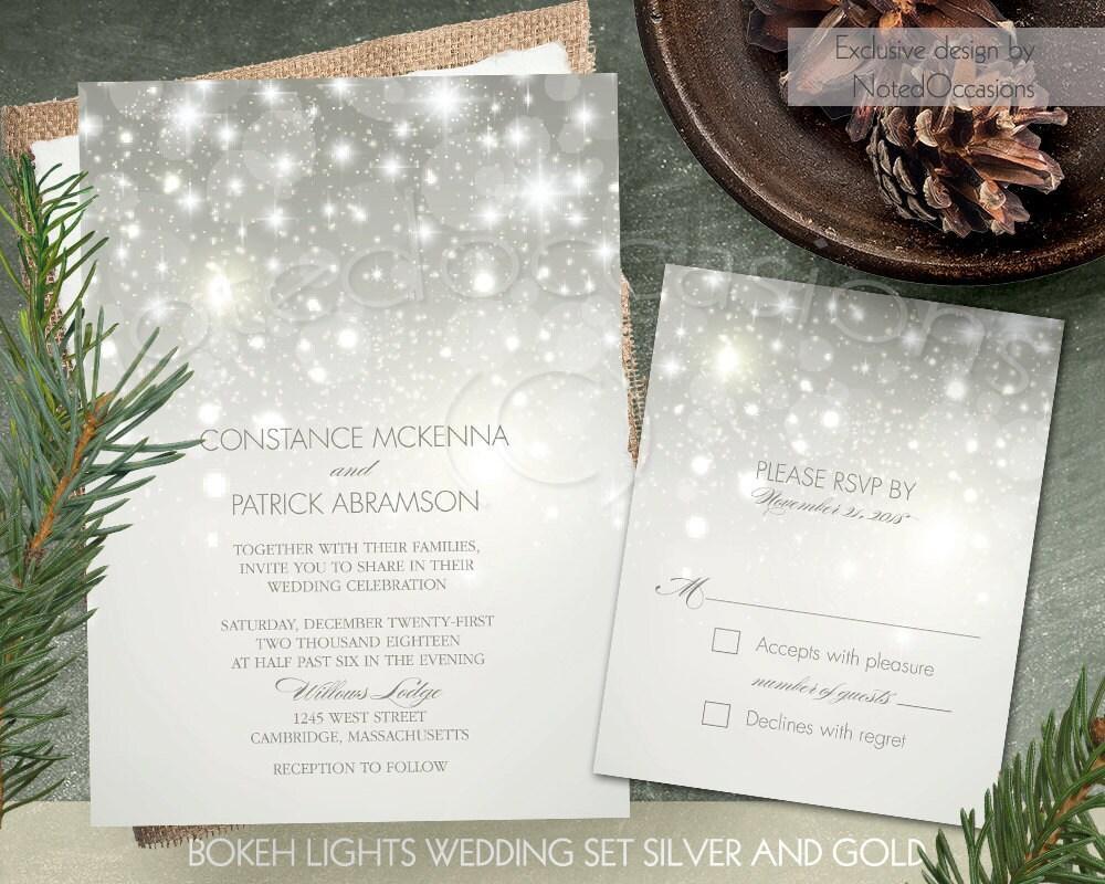 Winter Wedding Invitation Wording: Winter Wedding Invitation Suite Printable By NotedOccasions