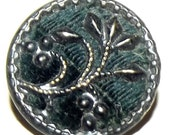 Antique Button Dark Green Velvet Perfume