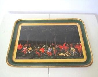 Vintage tray decorative/ Florentine tray