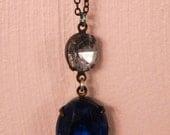 Necklace, Jewelry, Pendant, New, Vintage Theme, Glass, High Quality, Victorian, High Fashion, Banana Bob with Swarovski