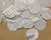 Confetti from 1975 Vintage Dictionary Pages Over 400 Punches - Rippy Bits by TangoBrat Ready to Ship