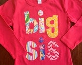 Big Sister Shirt, Big Sis Shirt, Big Sister Announcement Shirt, Sibling Shirt - Choose Sleeve Length and Shirt Color