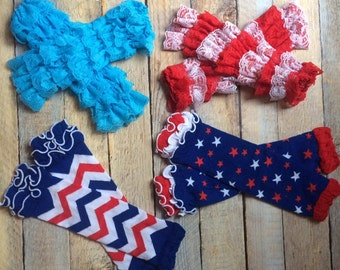 4th of July leg warmers-you choose
