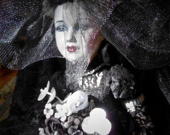 Bride of Frankenstein Porcelain Doll