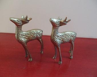 Set of vintage Brass Deer