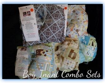 Travel Pillow - Blanket, Infant Travel Pillow, Neck Support - Combo Set - Baby Boy