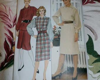 1980s Butterick Pattern 6104 Misses Dress, Top, and Skirt, Size 12 - 16,
