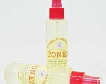 Natural Vitamin C Toner - 4 oz value size, orange citrus essential oil, skin care, beauty, organic