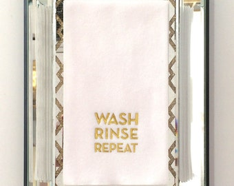 Gold Foil Guest Towels - Set of 15 - Wash Rinse Repeat
