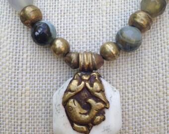 Tibetan Chank Shell Necklace