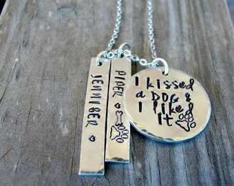 Dog Lover Gift, Dog Lover Jewelry, Dog Lover Necklace,  I Kissed A Dog and I Liked It, Gifts for Dog Lovers