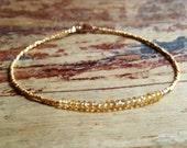 Citrine Bracelet Citrine November Birthstone Bracelet Womens Gift for Women Citrine Beaded Bracelets Gold Gemstone Bead Bracelet Womens Gift